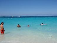 Esta é a aparência duma praia das Bahamas