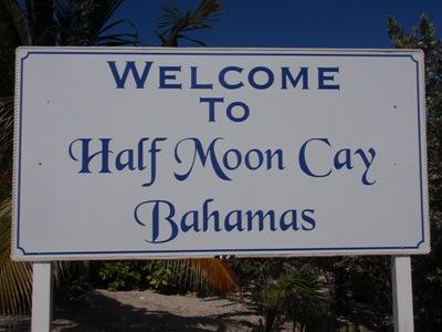 Bem-vindos a Half Moon Cay!