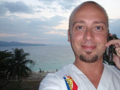 De regresso a Montego Bay, na varanda do hotel e ao telefone com a Magda!