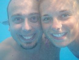 Com a Weronika, a nadar em Cozumel... há ja uns meses