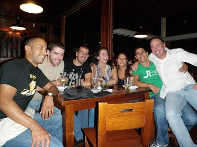 Despedida no Irish Coffee da Expo, a ver a banda do titio Filipe
