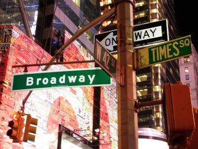 Cruzamento de Times Square e Broadway... clássico!