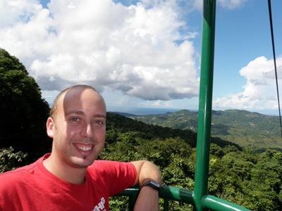 A iniciar a descida - Floresta Tropical em St Lucia