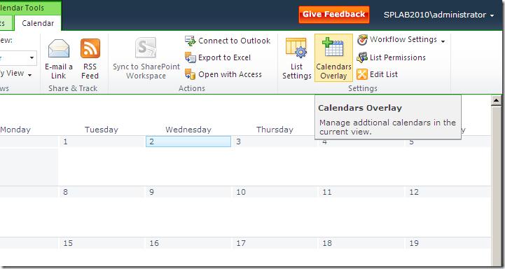 Calendars Overlay