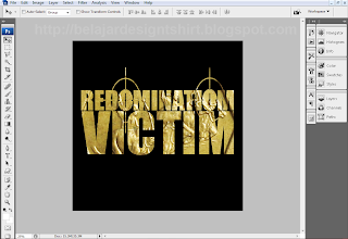 belajar design t-shirt redomination victim