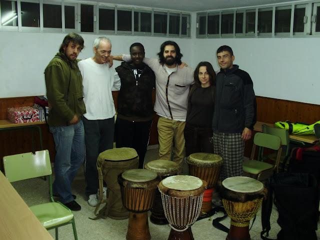 Clases de percusión africana.