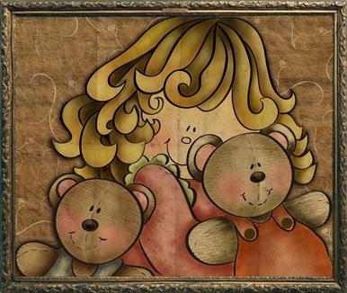 menina com ursos a