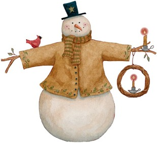 Christmas Snowman - Painted - _-767250