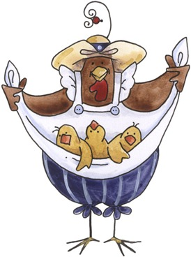 imagem de coupage clipart Chicken with Chicks-777237
