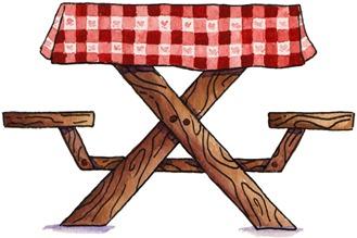 imagem decoupage clipart Picnic Table