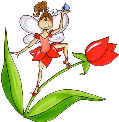 Fairy on Tulip01