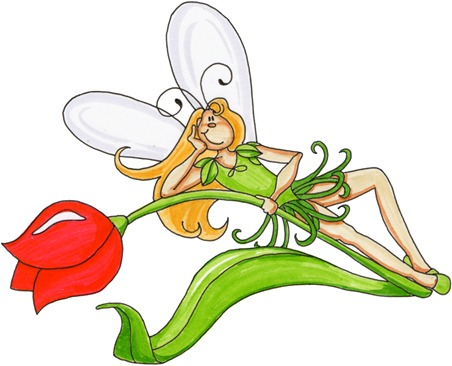 Fairy on Tulip02