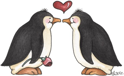 Penguin Kiss