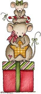 decoupage Christmas Mice