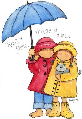 clipart imagem decoupage  Rain or Shine