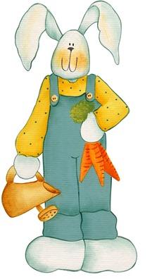imagens decoupage clipart figura decoupage  Bunny05