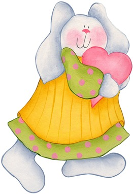 imagens decoupage clipart figura decoupage  Bunny with Heart01