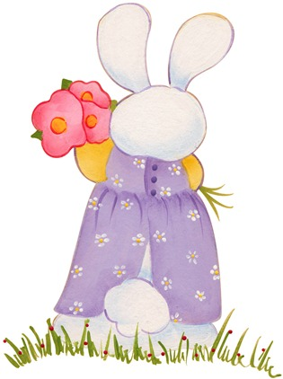 imagens decoupage clipart figura decoupage  Bunny03