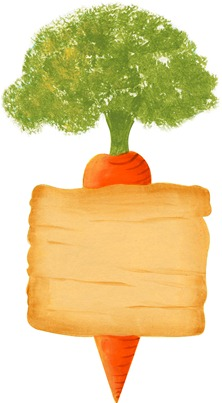 imagens decoupage clipart figura decoupage  Carrot Sign