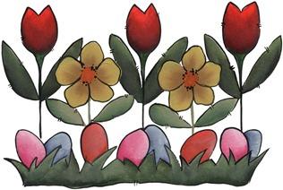 clipart imagem decoupage Easter Flowers
