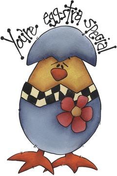 clipart imagem decoupage Egg-stra Special