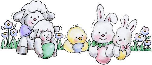 clipart imagem decoupage Easter Babies Topper