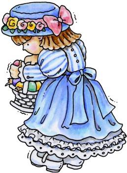 clipart imagem decoupage Easter Girl