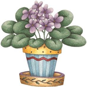 Violet Flower Pot