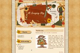 Plantilla Mi scrapping Blog