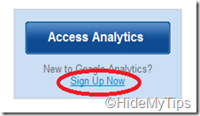 Click on Sign Up Now Option to Create an Account