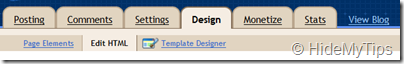 Select Edit HTML