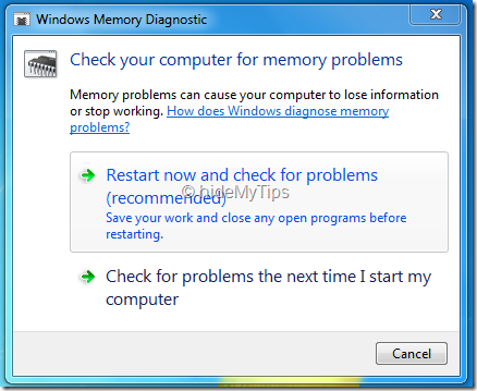 Find Windows 7 Memory Problem 02