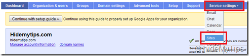 Creating a Custom Sites address for Your Domain's Google Apps Sites