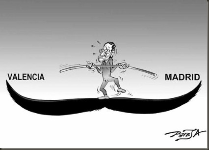 Rajoy entre Valencia y Madrid