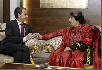 Gadafi Zapatero