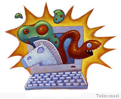 Perbezaan antara virus, trojan, worm dan malware