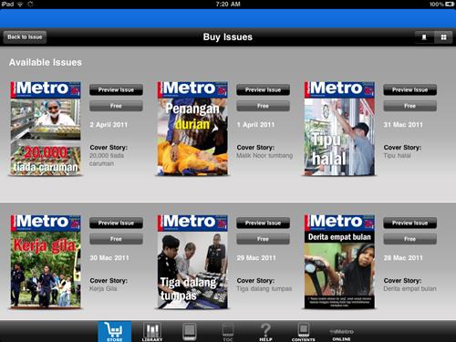 Pengalaman membaca Harian Metro edisi iPad