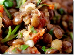 Omnivore's Lentil Salad