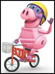 pig on bike