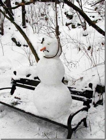 Hung Snowman
