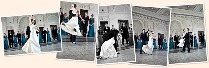 View dancing with the newlyweds