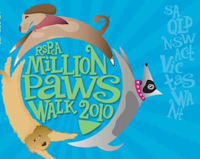 Million paws walk graphic