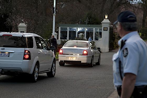 Gillard at government house