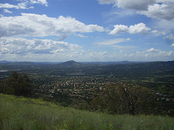 The view from Tuggeranong Hill