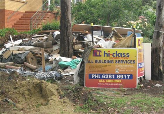 building debris