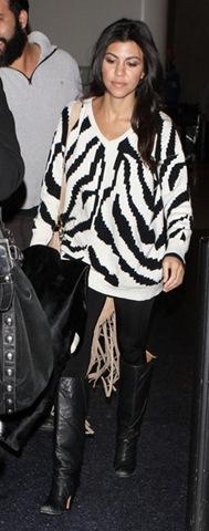 Kourtney Kardashian Tops V neck Sweater OXhWCeL6wDml