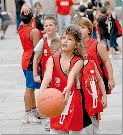 baloncesto y niños