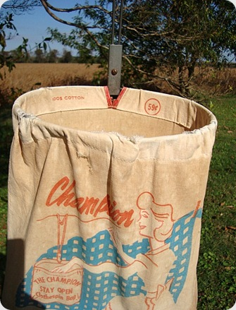 Vintage Clothes pin bag