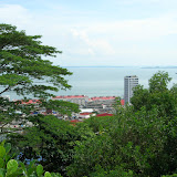 View of Sandakan from a hill behind