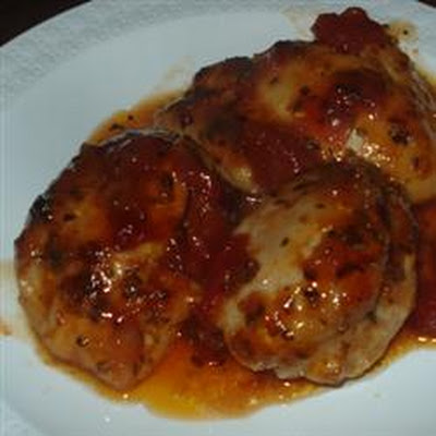 Grilled Chicken with Salsa Barbecue Sauce